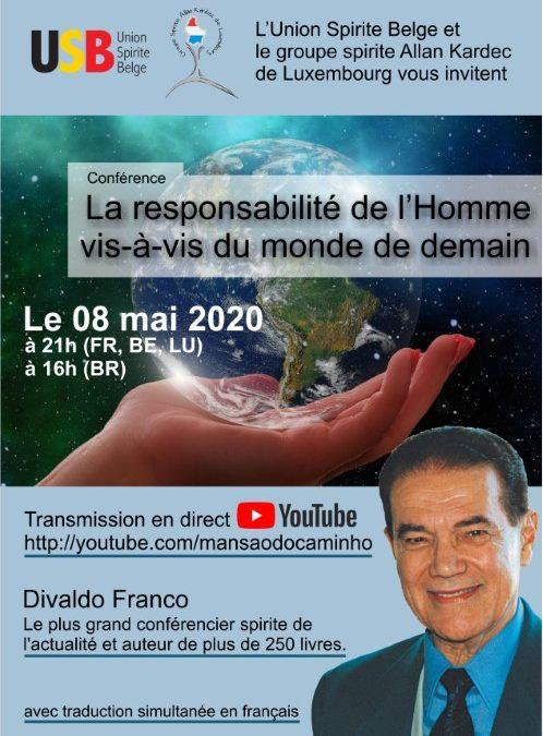Conférence avec Divaldo Franco le 08/05/2020